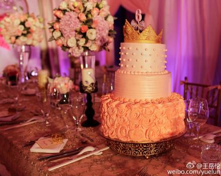 王诗龄/王岳伦李湘女儿 王诗龄的6岁生日蛋糕