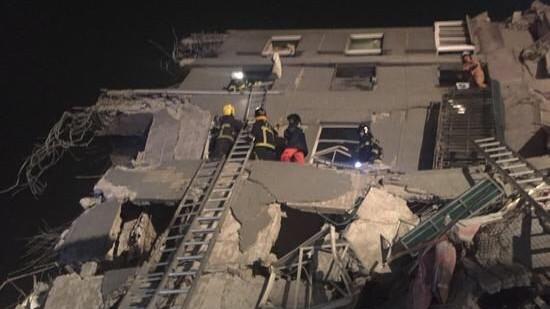 今日3时57分台湾高雄6.7级地震 多幢大楼倒塌