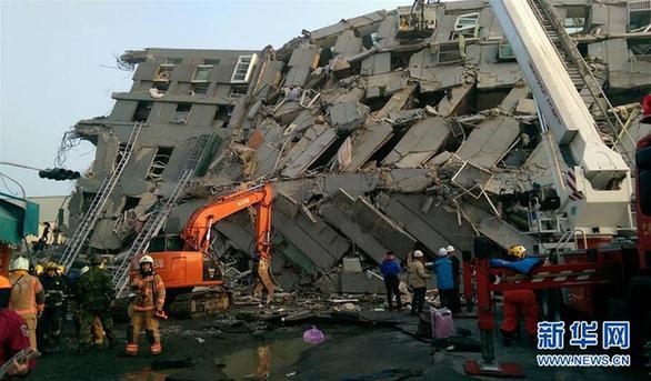 台湾南部6.7级地震已有3人无生命迹象