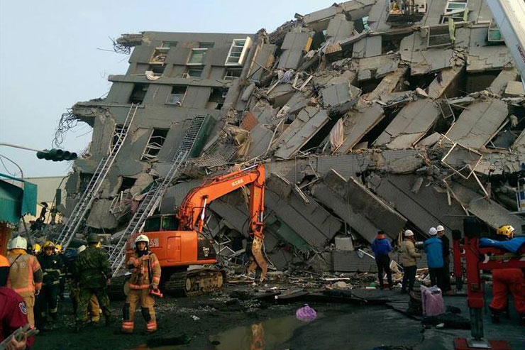 台湾高雄发生6.7级地震