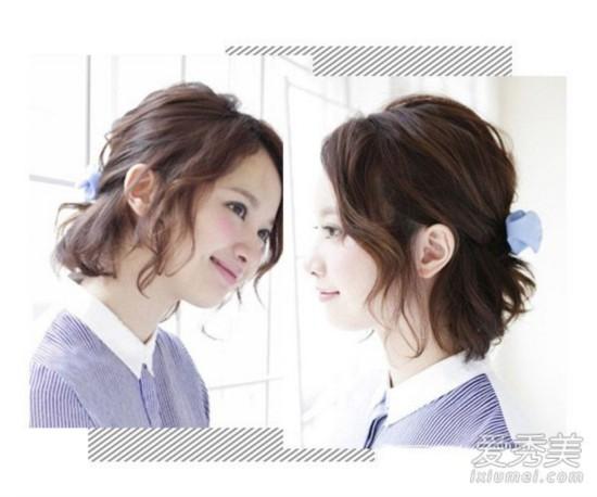 2016流行中长发烫发发型帅气甜美随心切换         不规则的麻花效果