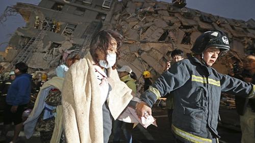 台湾高雄地震已造成台南23人死亡 包括6名儿童