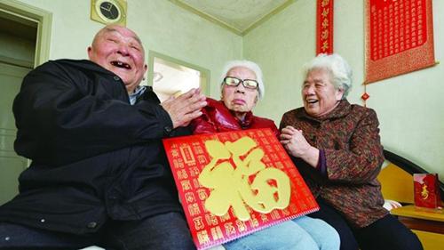 105岁唐阿婆四世同堂的红火日子