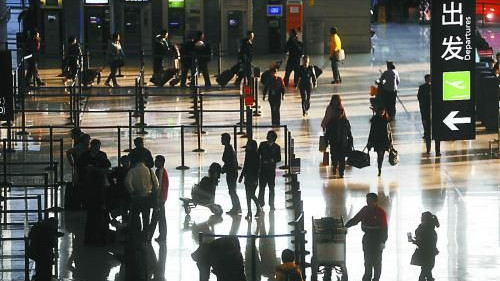 春节长假首日 虹桥机场出入境人数同比增5%