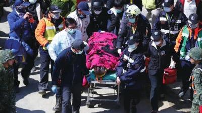 台湾地震已致40人遇难 男子受困56小时被截肢