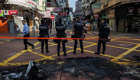 旺角暴乱事件香港警方已拘捕61人