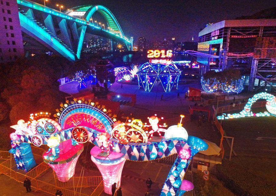 元宵哪里可观灯? 金山老街、世博公园彩灯盏盏