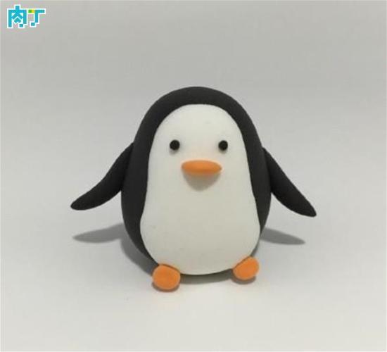 粘土diy超简单的呆萌企鹅制作方法图解教程