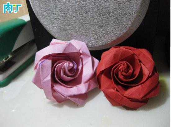 手工折纸冰淇淋玫瑰的折法详细步骤图解教程