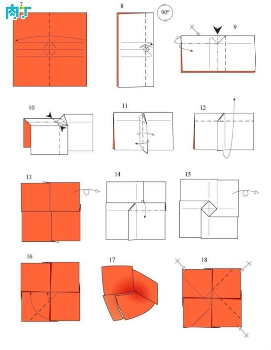 折纸玫瑰花的做法图解