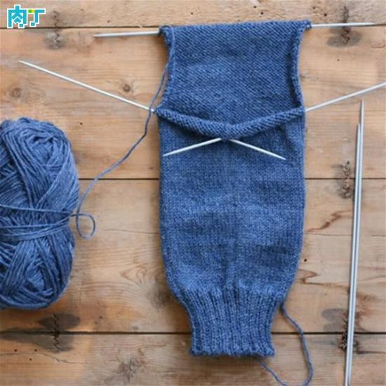 毛线袜子的编织方法 洋袜跟编织技巧及图样