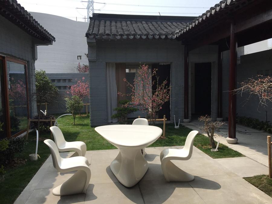 3D打印庭院式别墅亮相 建造80平米仅需一周