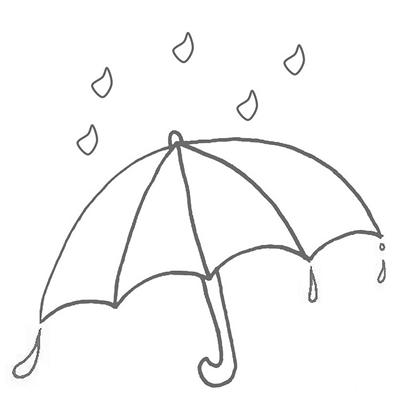 雨伞简笔画手绘