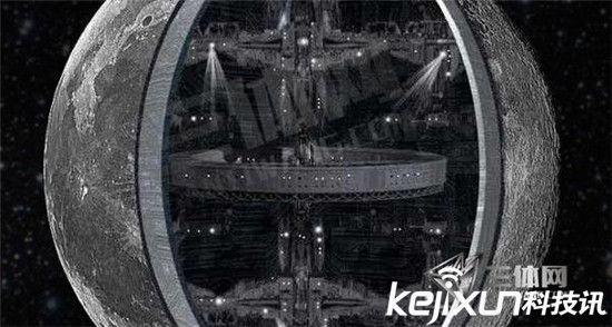 在飞碟行将着陆的月面上,有酷似起重机般高高竖起的吊臂,吊臂下矗立着一排纺锤形物体,高度一致,等距排列,类似机场跑道两旁的标志塔。有一座长约3公里、高约1500公尺的桥, 有2处像旗子样的东西和一处像人物塑像似的东西,有三根巨大的平行管道通向火山口,地面上还矗立着许多圆的或是方的形状奇特的建筑物。   这一照片的公布,不仅证明月球背面确有飞碟起降基地, 而且也证实月球背面建有城市。完全印证了瑞典科学杂志报导的苏联早在1964年发射的月球9号宇宙飞船就已在月球背面拍摄到一个飞碟基地和由形状奇特的高