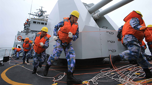 海军东海舰队组织海上实战化演练