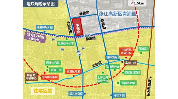 图说:青浦地铁周边示意图.来源:上海观察-青浦区又要放大招 将建图片