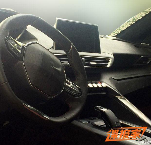 国产或称4008 东风标致全新SUV内饰曝光