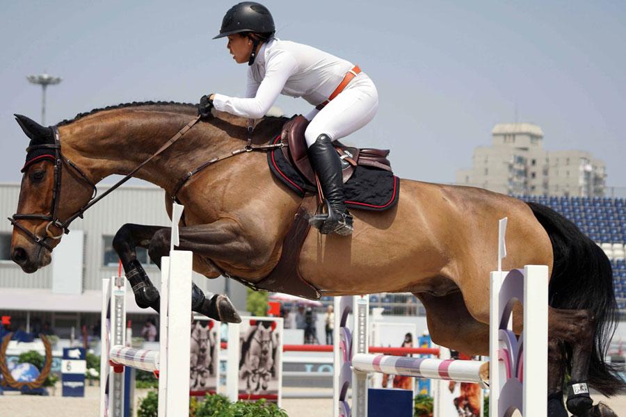 2016上海环球马术赛开幕 中国骑手持外卡参赛