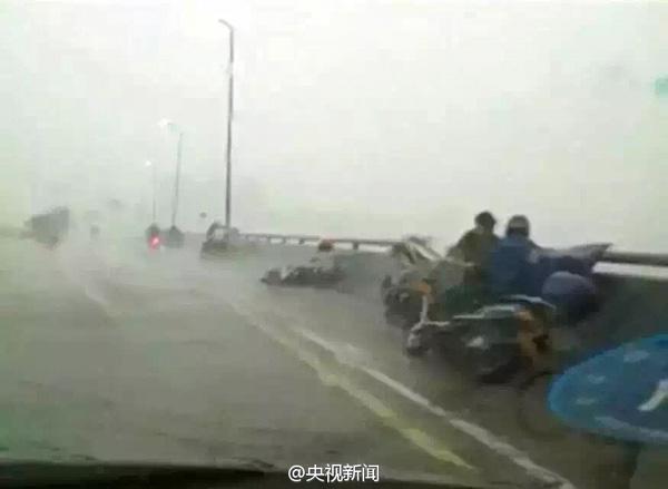大风袭击辽宁 降水量达140毫米