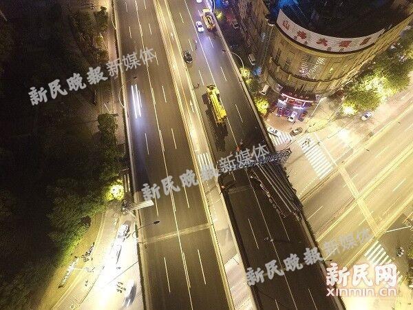 独家航拍:重型车违法上高架 沪中环沪太路段开裂脱位