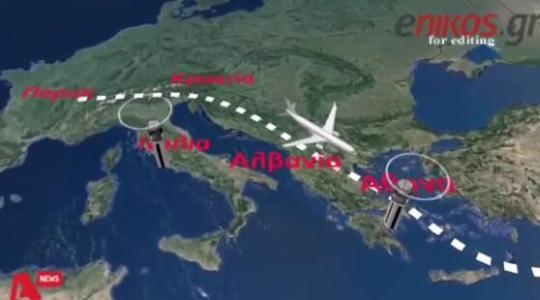 767飞机航线示意图