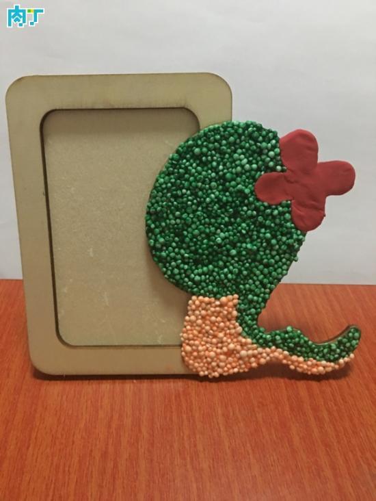 教你如何用轻粘土制作手工diy创意小蛇相框的详细