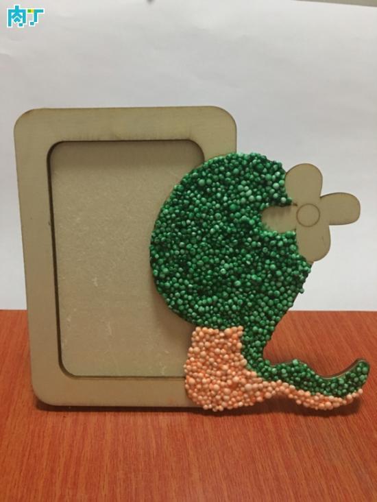 教你如何用轻粘土制作手工diy创意小蛇相框的详细步骤图片