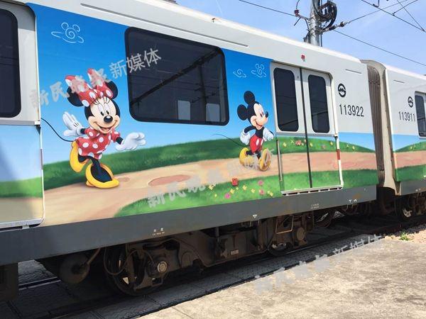 """实景图来了!上海地铁11号线16日将开""""迪士尼专列"""""""