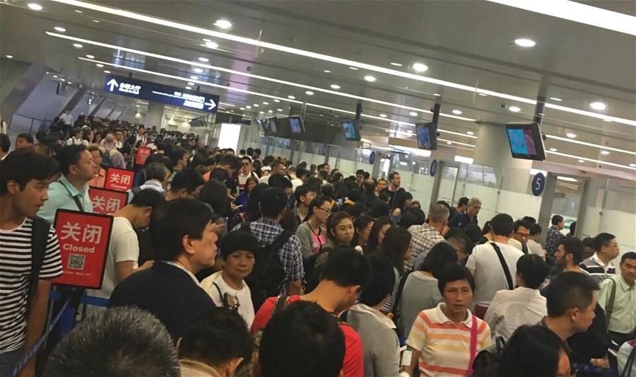 上海浦东机场安检升级!排队长长长长长长…