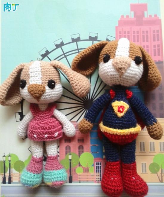 用毛线编织可爱漂亮手工DIY的狗狗小挂件详细教程