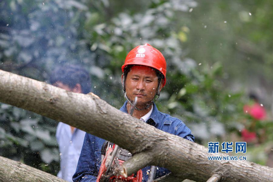 河南永城:灾后全力保供电