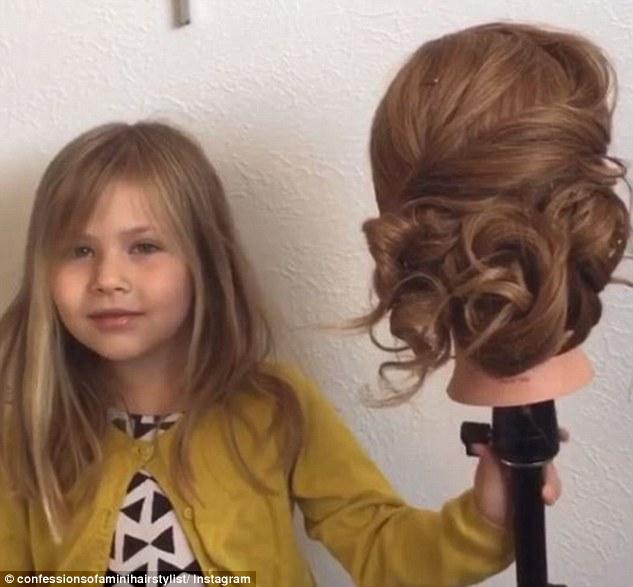 美5岁女童变身天才发型师羡煞众网友