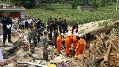 贵州大方县发生山体滑坡致29人被埋 目前已救出9人