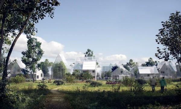 荷兰将打造玻璃穹顶的生态村庄 能自给自足