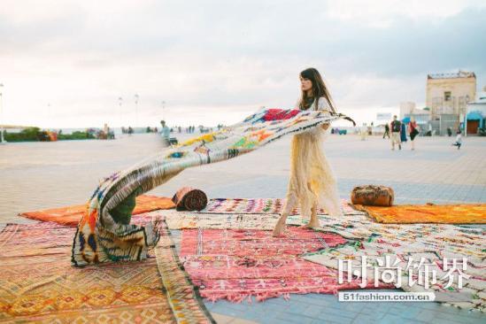 打造波西米亚风的家居 你需要一块这样的手工地毯(图)