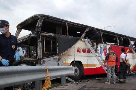 台湾确认大陆赴台旅行团起火大巴司机系酒后驾车