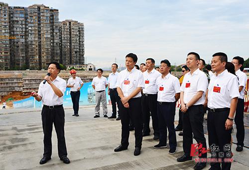 长沙市岳麓区第五次党代会党代表现场观摩重点工程项目