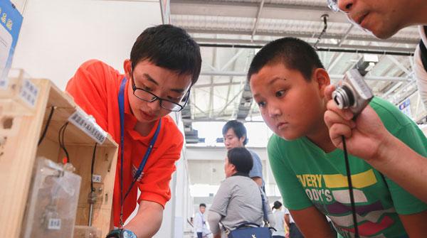 图说:学生发明的一种家庭废水再利用系统