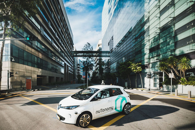 在公共测试中,一些选定的新加坡 无人驾驶汽车   .在   公司网站上高清图片
