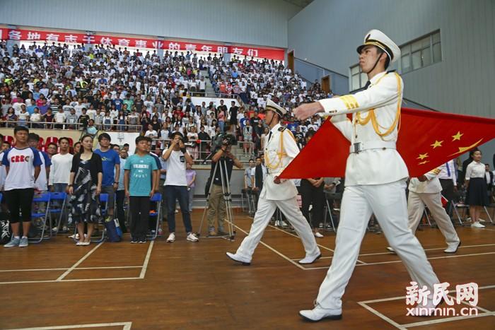 """上海体育学院举行2016级新生开学典礼暨""""学习奥运健儿,弘扬体育精神""""分享会——奥运选手感言:很想在学校安静读书"""