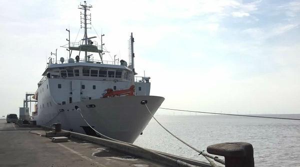 """我国万米级载人深潜器科考母船""""张謇""""号首航凯旋"""