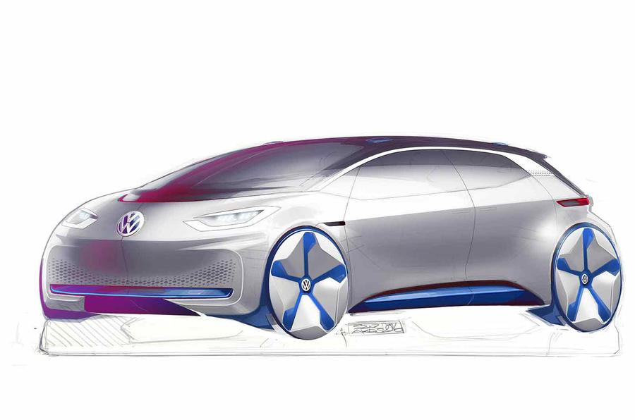 大众全新电动汽车设计图公布
