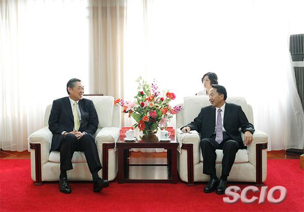 蒋建国会见日本驻华大使横井裕先生