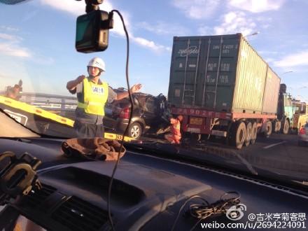 去崇明要注意!G40长江大桥今晨发生事故 2死3伤