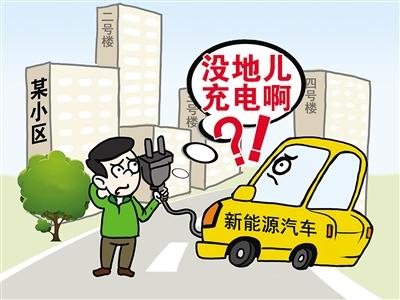 """私人充电桩""""落户""""小区遇尴尬 新能源汽车充电啥时不再难"""