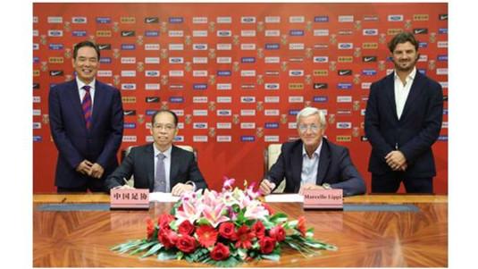 中国足协宣布:里皮担任中国男足主教练