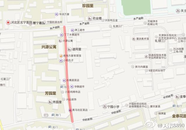 26日起华新大街(水产前街至中纺前街)禁止通行
