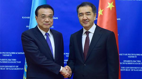 李克强同哈萨克斯坦总理萨金塔耶夫举行中哈总理第三次定期会晤
