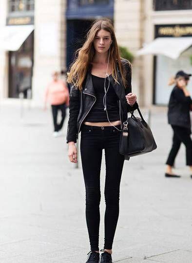 """酷酷的女生注意了,黑皮衣是你秋日里继续"""""""