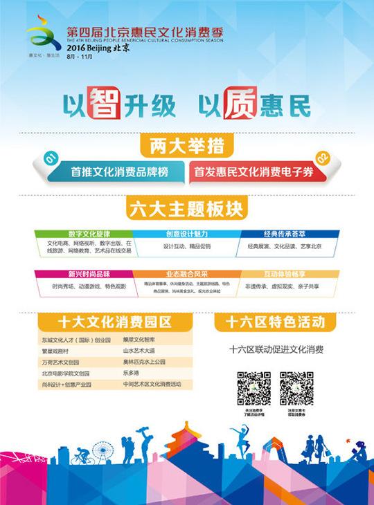 2016北京文化消费品牌榜正式启动征集